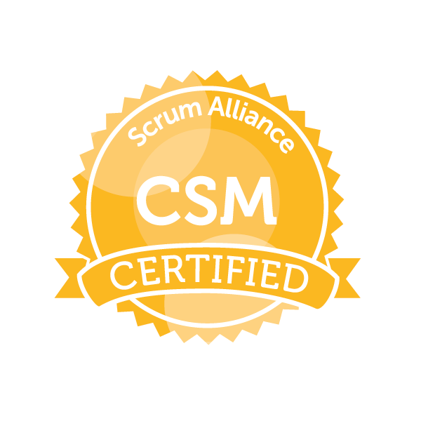 Certified Scrum Master (CSM) badge - also a Certified Scrum Product Owner (CSPO)